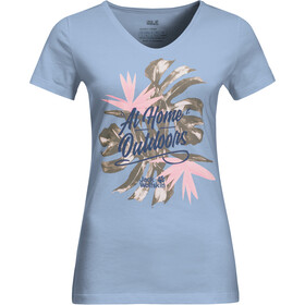Jack Wolfskin At Home T-shirt Dames, ice blue